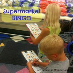 Supermarket BINGO: Entertain the kids and keep grocery shopping stress free…