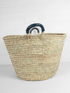 Beldi Basket with Leather Trim
