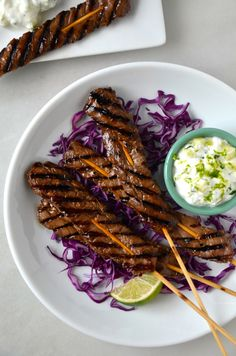 Five-Spice Beef Kabobs that can be cooked on the grill or on the stove.