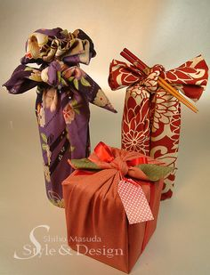 Furoshiki--eco-friendly gift wrap idea!! :)