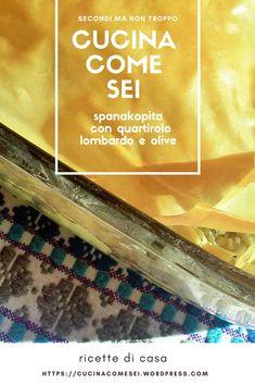 #tortesalate Vi propongo la ricetta di una deliziosa spanakopita, improvvisata lo scorso sabato con quel che avevo in casa.  Alla feta ho sostituito il quartirolo lombardo, un formaggio di latte vaccino saporito e antico che, come la feta tende a sbriciolarsi. Ho poi aggiunto delle olive taggiasche e il nostrano prezzemolo. La mia spanakopita di pianura è piaciuta. Azzeccatissime le olive taggiasche nel ripieno di spinaci e formaggio.