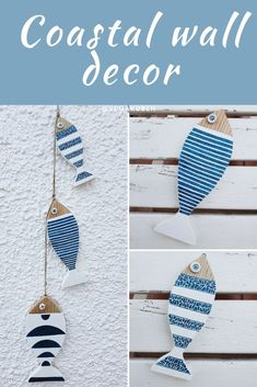 Bring the beach to your home with kemakubcn' coastal decor accent pieces and accessories. This simple and lovely beach decor piece will add a nautical touch to your home or make a great beach lovers gift. Beach cottage décor | Bathroom decor | Beach house decor | Ocean rustic decor