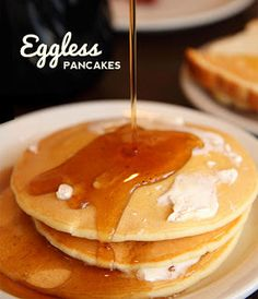 Eggless Pancakes - for egg allergies or lower cholesterol