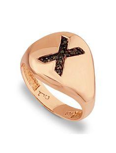 Δαχτυλίδι Χρυσό 14Κ σε Ροζ Χρώμα με Ζιργκόν Αναφορά 008836 Δαχτυλίδι από Χρυσό Κ14 σε ροζ χρώμα με μονόγραμμα, διακοσμημένο με ημιπολύτιμες πέτρες (ζιργκόν) σε μαύρο χρώμα. Gemstone Rings, Wedding Rings, Engagement Rings, Gemstones, Jewelry, Fashion, Enagement Rings, Moda, Jewlery