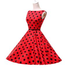 Vintage New Rockabilly 50s 60s Polka Dot Swing Petticoat Gothic Jive Pinup Dress | eBay