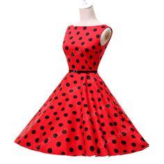 Vintage New Rockabilly 50s 60s Polka Dot Swing Petticoat Gothic Jive Pinup Dress | eBay