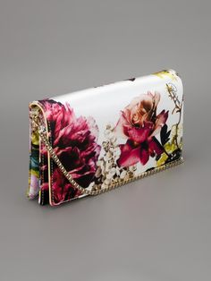 Roberto Cavalli 'Small Floral Pochette Clutch' - Stefania Mode - farfetch.com