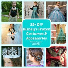 35+ DIY Disney Frozen Costumes & Dresses (Elsa, Anna, Olaf) - DIY for Life