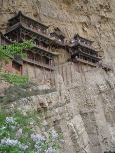 Datong Temple - one of many monasteries built on the edge of what is architecturally possible