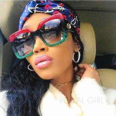 Fashionista Women Square Sunglasses Luxury Brand Designer Vintage Oversize Acetate Frame