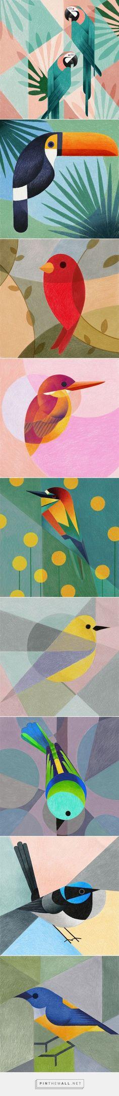 Geometric birds (Procreate-iPad Pro) by Samy Halim