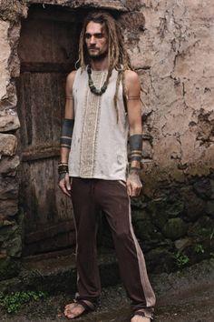 Gift For Him Organic hemp cotton Men tribal Pants Nomad Fashion, Mens Fashion, Tribal Pants, Gypsy, Estilo Hippie, Eco Friendly Fashion, Gifts For Him, Print Patterns, People