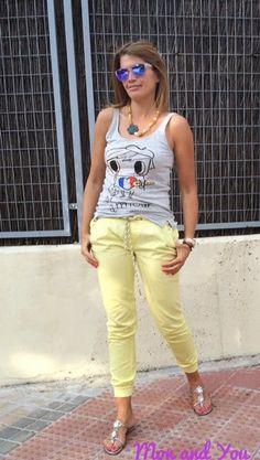 Mon and You: Yellow pants