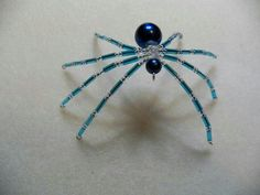Blue and silver spider