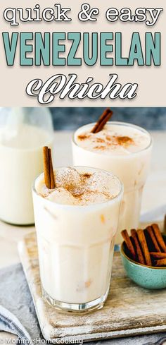 This Venezuelan Chicha is creamy, smooth, and super decadent! This refreshing and super easy to make drink will be enjoyed by everyone. #recipe #chicha #Venezuela #easy #quick #fromscratch #drink #homemade #best #simple #eggfree #eggless #eggallergy #foodallergy #allergyfriendly via @mommyhomecookin Good Food, Yummy Food, Delicious Recipes, Fun Recipes, Amazing Recipes, Healthy Recipes, No Dairy Recipes, Dessert Recipes, Desserts