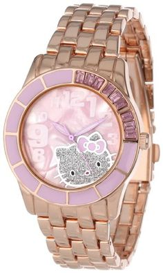 Hello Kitty Women's H3WL1036PR Enamel Bezel Metal Bracelet Faux Mother-Of-Pearl Dial Watch Hello Kitty, MEN'S AND WOMEN'S WATCHES to buy just click on amazon right here http://www.amazon.com/dp/B00A3M244K/ref=cm_sw_r_pi_dp_td8Jsb0YEQE8P127