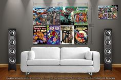 Marvel Comic Book Covers : Large Giant Wall Poster Art Print - A4 x 8 + 1 FREE A4 Poster on Etsy, £12.51