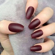 Trendy Wine Red Nail Art Designs for Girls Fashion Manicure Dark Nails, Matte Nails, Red Nails, Acrylic Nails, Stiletto Nails, Coffin Nails, Burgundy Matte Lipstick, Burgundy Nails, Red Burgundy