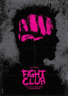 Minimalist Movie Poster Fight Club By Daniel Norris