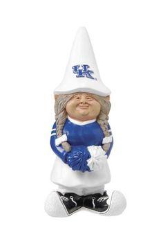 NCAA Kentucky Wildcats Cheerleader Garden Gnome by Evergreen, http://www.amazon.com/dp/B0014WVLF6/ref=cm_sw_r_pi_dp_DwjLpb0279X38