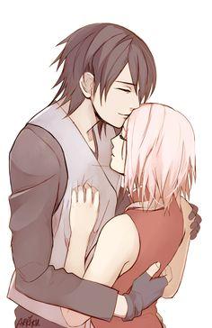 arriku, NARUTO, Uchiha Sasuke, Haruno Sakura, Kiss on the Forehead, Husband And Wife