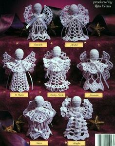 My mother made hundreds of crochet angels.  She gave many away as gifts.  I have decorated our Christmas tree with only the crocheted angels and crocheted snowflakes she also made. Beautiful.