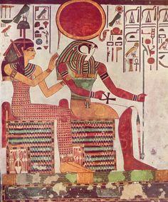 1298-1235 a.C: Imentet y  Ra en la tumba de  Nefertari.