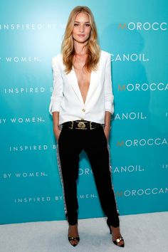 Rosie Huntington-Whiteley in Versus Versace at Moroccan Oil event