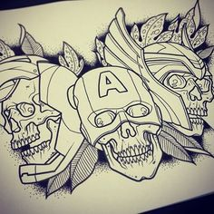 Tattoo Flash Art Zombie Marvel zombies tattoo flash fandom tattoos ...