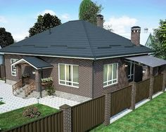 No photo description available. 4 Bedroom House Designs, House Plans Mansion, Little Houses, My House, Gazebo, Sweet Home, Shed, Exterior, Outdoor Structures
