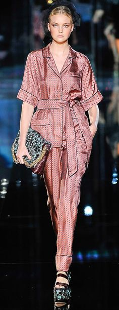 Couture Pajamas in Public: Dolce & Gabbana Women's Pantsuits Inspired by Men's…