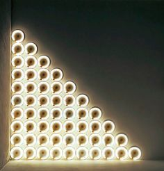 Dan Flavin, Untitled (to a Man, George McGovern) 2, 1972, Warm white fluorescent light, 305 cm high, 305 cm wide