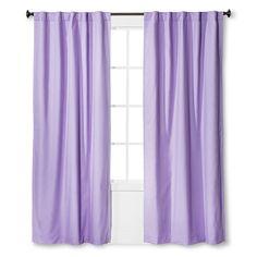 Twill Light Blocking Curtain Panel Lavender Purple 42x95