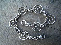 Byzantine Spiral Handmade Sterling Silver Chain by betsyresnick