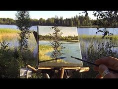 Testing The Bushcraft Plein Air Easel - Acrylic Plein Air Painting Demo . Acrylic Tips, Acrylic Painting Techniques, Painting Videos, Acrylic Paintings, Painting & Drawing, Landscape Paintings, Plein Air Easel, Easels, Learn Art