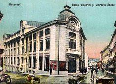 Librăria Socec, pe locul actualului magazin Victoria (fost Galeriile Lafayette) Bucharest Romania, Interesting Reads, Belle Epoque, Once Upon A Time, Big Ben, Louvre, Memories, Landscape, Maps