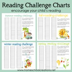 Charts Reading challenge charts to use with children to encourage reading all year long.Reading challenge charts to use with children to encourage reading all year long. Kids Reading, Reading Activities, Teaching Reading, Fun Learning, Free Reading, Reading Lists, Reading Incentives, Reading Challenge, Reading Goals