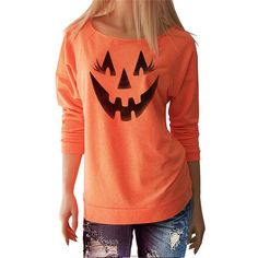 Women Halloween Claus Pumpkin Printed
