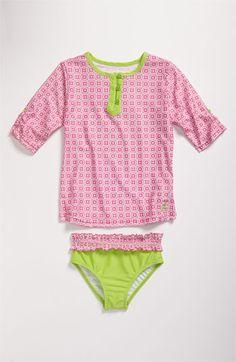 $42 Cabana Life Rashguard Shirt & Swim Bottoms Set (Little Girls)   Nordstrom