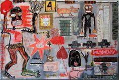 """4 Ever, 2014"" By Sylvia Calmejane - Mixed media, plexiglas screwed on metallic frame 150 x 100 cm #Street #Art"