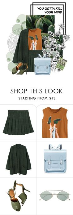 """""""Back to Green 二"""" by li-el ❤ liked on Polyvore featuring MANGO, The Cambridge Satchel Company, Givenchy and Spektre"""