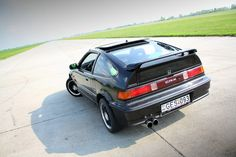 Honda CRX with a B16A swap, and of course other modifications.