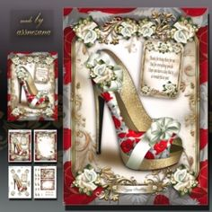 Poppy Floral Shoes Card Mini Kit on Craftsuprint - View Now!
