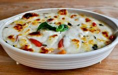 MADE 2 (**)  hot caprese dip~mozzarella cheese, basil, tomatoes mixed together and baked~seems easy enough