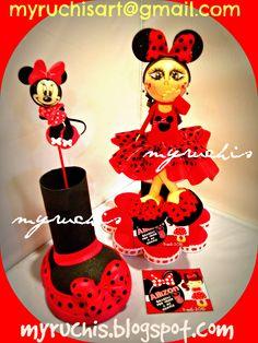 Fiesta Minnie, fiestas infantiles, ideas fiesta Minnie, dulceros infantiles, dulceros Minnie myruchis.blogspot.com