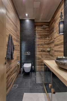 Stylish 34 Fancy Bathroom Design Ideas With Stunning Wood Shades Contemporary Bathroom Designs, Modern Bathroom Decor, Wood Bathroom, Modern Bathroom Design, Bathroom Interior Design, Bathroom Styling, Bathroom Flooring, Small Bathroom, Bathroom Ideas