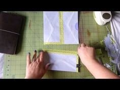 How to make an envelope insert for your Midori - YouTube