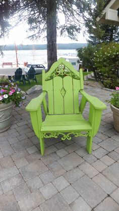 This color is to die for...I would love to have this beautiful cottage Adirondack chair on my porch