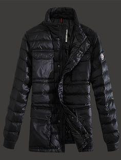 Moncler Arnoux Down Jacket Men Stand Collar Black New York Fashion, Runway  Fashion 62a64c854e