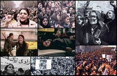 Iran 1979, Demonstration on International Women's Day.